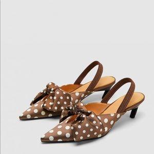 NWT Zara Polka Dot Heels
